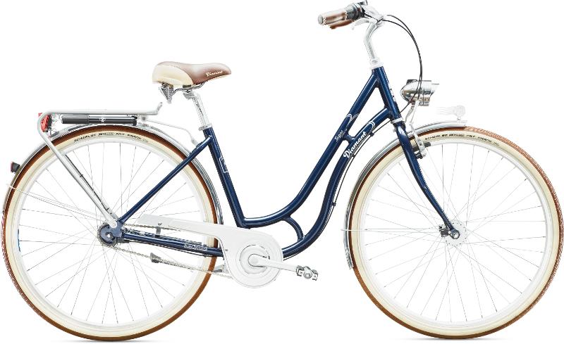Diamant Topas Deluxe Stahlblau 2016 - Citybike 2rad-center.com