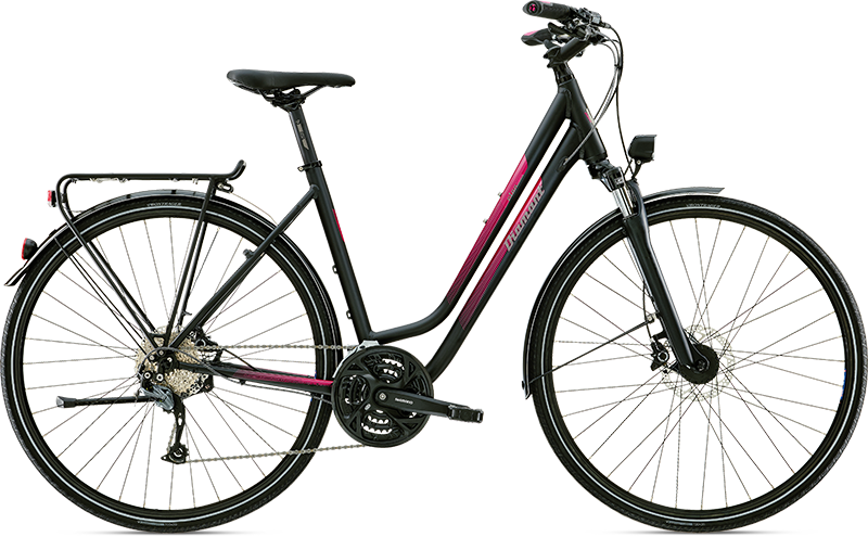 Diamant Elan Legere Tiefschwarz 2016 - Trekking-Bike 2rad-center.com